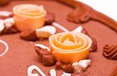 Chocolate cake closeup — Stock Photo