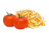 Tomatoes and house pasta — Stock Photo