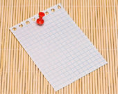 List from a notebook, empty place for your text — Stock Photo