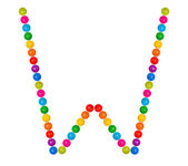 Letter W from plastic children's balls — Foto Stock