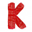 The bright letters K drawn by paints — Stock Photo