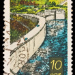 FEDERAL REPUBLIC OF GERMANY - CIRCA 1970s: A stamp printed in the Federal Republic of Germany shows Talsperre Pohl, circa 1970s — Stock Photo