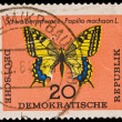 Stock Photo: FEDERAL REPUBLIC OF GERMANY - CIRC1960s: stamp printed in Federal Republic of Germany shows Schwalbenschwanz-Papilio machaon L., circ1960s