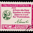 Stock Photo: US- CIRC1970s: stamp printed in USshows note Those who D