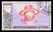A stamp printed in the Mongolia, shows satellite Venera-9-USSR, circa 1985 — Stock Photo