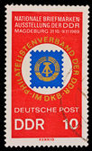 FEDERAL REPUBLIC OF GERMANY - CIRCA 1969: A stamp printed in the Federal Republic of Germany shows Nationale Briefmarken-Ausstellung der DDR Magdeburg 31.10-9.11.1969, circa 1969 — Stock Photo