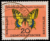 FEDERAL REPUBLIC OF GERMANY - CIRCA 1960s: A stamp printed in the Federal Republic of Germany shows Schwalbenschwanz-Papilio machaon L., circa 1960s — Stock Photo
