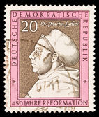 FEDERAL REPUBLIC OF GERMANY - CIRCA 1960s: A stamp printed in the Federal Republic of Germany shows Iahre reformation Dr,Martin Juther, circa 1960s — Stock Photo