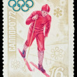 USSR - CIRCA 1972: A stamp printed in the USSR, image is devoted the winter Olympic Games in Sapporo 1972, circa 1972 — Zdjęcie stockowe