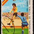 CUBA - CIRCA 1982: A stamp printed in the CUBA, image is devoted World championship on football, Spain, circa 1982 — Stock Photo