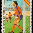CUBA - CIRCA 1982: A stamp printed in the CUBA, image is devoted World championship on football, Spain-82, circa 1982 — Stock Photo #27946189