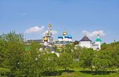 Trinity Lavra of St. Sergius (1337), monastery in Sergiyev Posad, one of cities of Golden Ring of Russia — Stock Photo