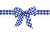 Blue bow — Stock Photo