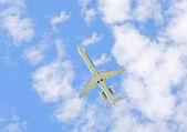 L'aereo nel cielo — Foto Stock