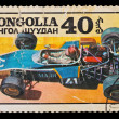MONGOLIA - CIRCA 1978: A stamp printed in the Mongolia, shows sport car Madi, circa 1978 — Stock Photo