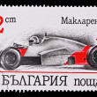 BULGARIA - CIRCA 1986: A stamp printed in Bulgaria showing vintage car McLaren 1986, circa 1986 — Stock Photo