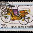DPR KOREA - CIRCA 1985: a stamp printed by DPR Korea , images motorcar, Armand Peugeot 1891. Circa 1985 — Stock Photo