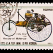 DPR KOREA - CIRCA 1985: a stamp printed by DPR Korea , images motorcar,Karl Benz 1886. Circa 1985 — Stock Photo