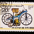 DPR KOREA - CIRCA 1985: a stamp printed by DPR Korea , images motorcar,Gottlieb Daimler 1885. Circa 1985 — Stock Photo