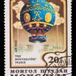 MONGOLIA - CIRCA 1982: A stamp printed in the Mongolia, shows Balloon Montgolfiere France 1783, circa 1982 — Stock Photo #27953319