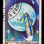 MONGOLIA - CIRCA 1985: A stamp printed in the Mongolia, shows Balloon Salut USSR, circa 1985 — Stock Photo #27953815