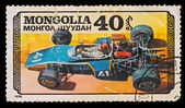 "MONGOLIA - CIRCA 1978: A stamp printed in the Mongolia, shows sport car ""Madi"", circa 1978 — Stockfoto"