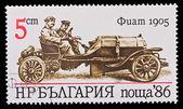 Bulgaristan - yaklaşık 1986: damga basılmış gösterilen eski model araba fiat 1905, 1986 yaklaşık bulgaristan — Stok fotoğraf