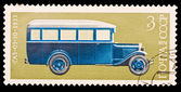 USSR - CIRCA 1974: A stamp printed in the USSR, image old car GAZ-03-30 1933, circa 1974 — Foto Stock