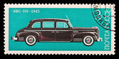 USSR - CIRCA 1976: A stamp printed in the USSR, image old car ZIS-110 1945, circa 1976 — Foto Stock