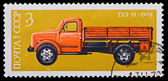 USSR - CIRCA 1976: A stamp printed in the USSR, image old car GAZ-51 1946, circa 1976 — Zdjęcie stockowe