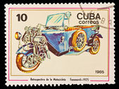 CUBA - CIRCA 1985: A stamp printed in the CUBA, image old bike, Retrospectiva de la Motociclete Fanomovil 1925, circa 1985 — Stock Photo