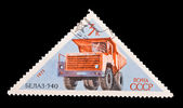 USSR - CIRCA 1971: A stamp printed in the USSR, image old car Belaz 540, circa 1971 — Stock Photo