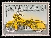 匈牙利-大约在 1985年: 在匈牙利打印戳记表明,哈雷 · 戴维森垛滑翔 1200 厘米 1960 年,大约在 1985年. — 图库照片