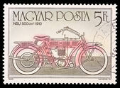 HUNGARY - CIRCA 1985: A stamp printed in Hungary shows NSU 500 cm 1910, circa 1985. — Stockfoto