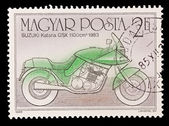 HUNGARY - CIRCA 1985: A stamp printed in Hungary shows Suzuki Katana GSX 1100 cm 1983, circa 1985. — Stockfoto