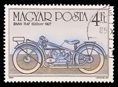 HUNGARY - CIRCA 1985: A stamp printed in Hungary shows BMW R47 500cm 1927, circa 1985. — Stock Photo