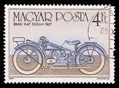匈牙利-大约 1985年: 在匈牙利打印戳记表明,宝马 r47 500 厘米 1927 年,大约在 1985年. — 图库照片