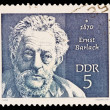 Постер, плакат: FEDERAL REPUBLIC OF GERMANY CIRCA 1970: A stamp printed in the Federal Republic of Germany shows 1870 Ernst Barlach circa 1970