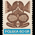 Republic of Poland - CIRCA 1969: A stamp printed in the Republic of Poland, shows abstract picture, circa 1969 — Stock Photo #28001805