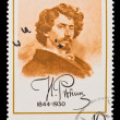 Stock Photo: USSR - CIRC1969: stamp printed in USSR, IlyYefimovich Repin leading Russipainter and sculptor of Peredvizhniki artistic school, circ1969