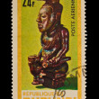 REPUBLIQUE DU BURUNDI - CIRCA 1981: A stamp printed in the REPUBLIQUE DU BURUNDI , shows figurine,  circa 1981 — Stockfoto