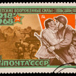 USSR - CIRCA 1968: A stamp printed in the USSR, devoted The Soviet armed forces,  1918-1968, circa 1968 — Stock Photo