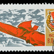 USSR - CIRCA 1968: A stamp printed in the USSR, devoted The 50 anniversary Vsesoyuznii Leninskii Kommunisticheskii Soyuz Molodyozhi (VLKSM), circa 1968 — Stock Photo