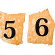 5 and 6 number A on the old paper — Stock Photo
