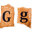 Header and capital letter G on the old paper — Stock Photo #28008577