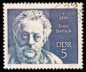 FEDERAL REPUBLIC OF GERMANY - CIRCA 1970: A stamp printed in the Federal Republic of Germany shows 1870 Ernst Barlach, circa 1970 — Stock Photo