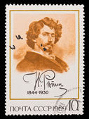 USSR - CIRCA 1969: A stamp printed in the USSR, Ilya Yefimovich Repin leading Russian painter and sculptor of the Peredvizhniki artistic school, circa 1969 — Stock Photo