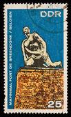 FEDERAL REPUBLIC OF GERMANY CIRCA 1970 A stamp printed in the Federal Republic of Germany shows Mahnmal fort de breendonk Belgien, circa 1970 — Stock Photo