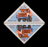 USSR - CIRCA 1971: A stamp printed in the USSR, shows old car Belaz-540, circa 1971 — Stock Photo