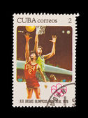 CUBA - CIRCA 1976: A stamp printed in the CUBA, shows XXI JUEGOS OLIMPIOCOS MONTREAL 80, circa 1976 — Stock Photo